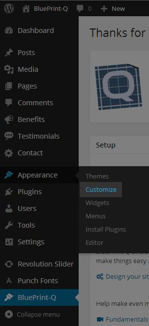 BluePrint-Q · WordPress Theme & Innovative Solutions